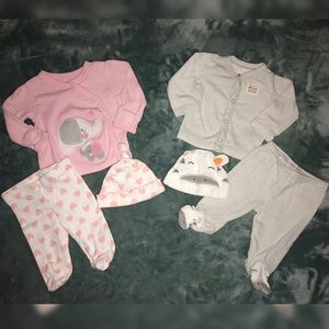 Other - 💕4 for $21💕 2 Newborn Outfits👶🏻